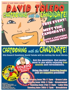 GW David Toledo Seattle City Council Cartooning with the Candidate 1